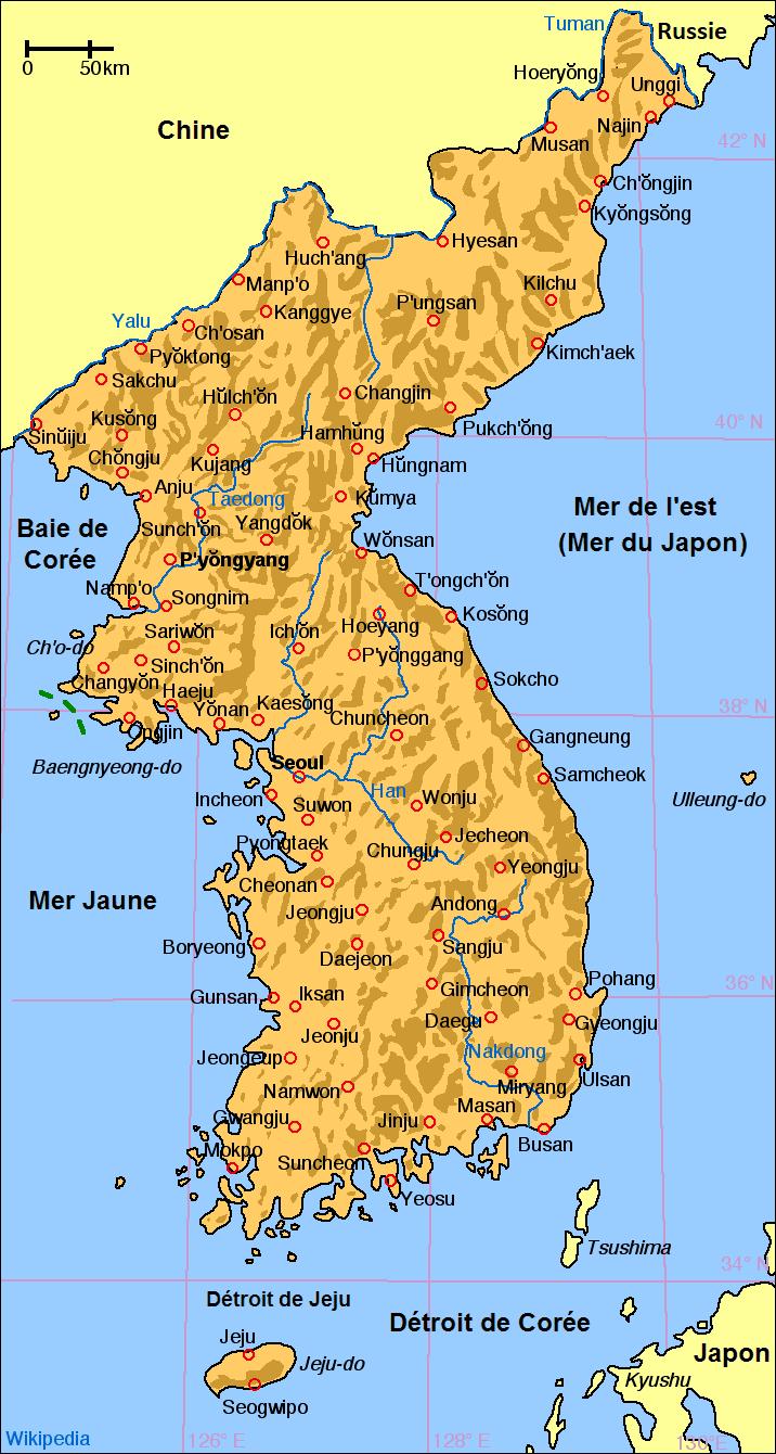carte de la corée File:Carte de Coree (ajout de la mention Russie).png   Wikimedia