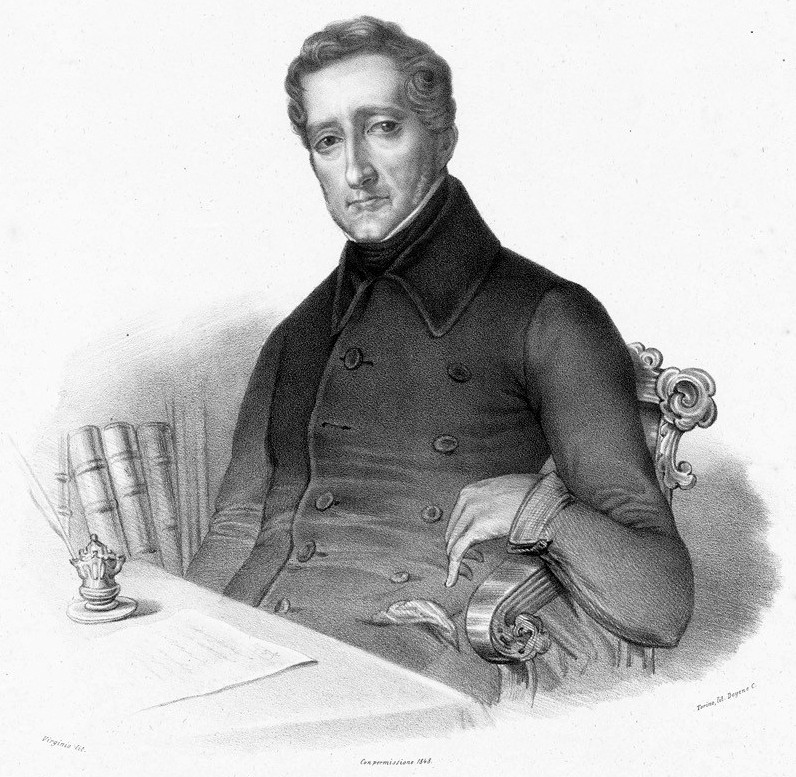 Cesare Balbo in una litografia del 1848