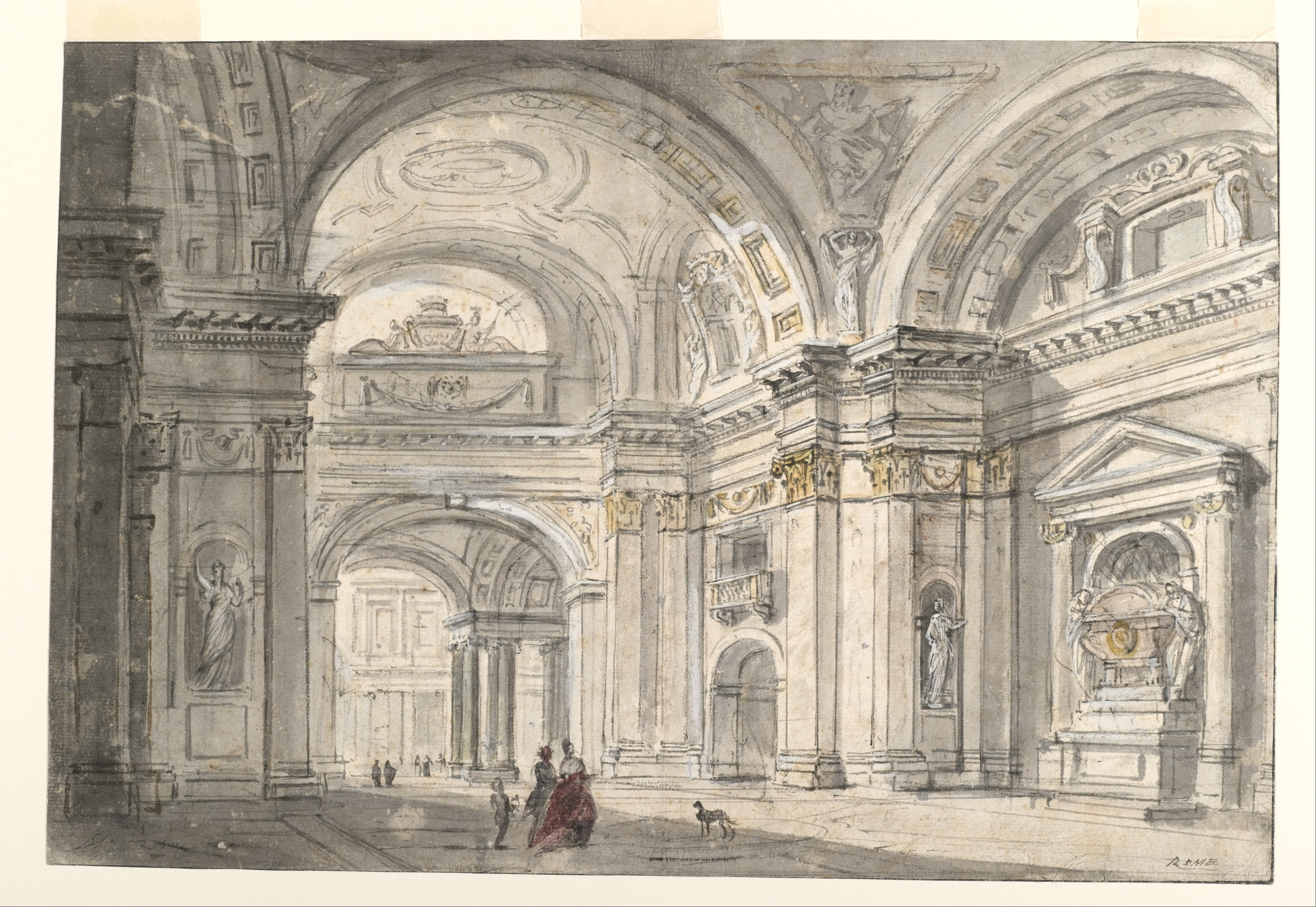 Fichier Charles Michel Ange Challe View Of Church Interior Google Art Project Jpg Wikipedia