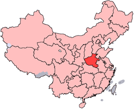 Henan is highlighted on this map