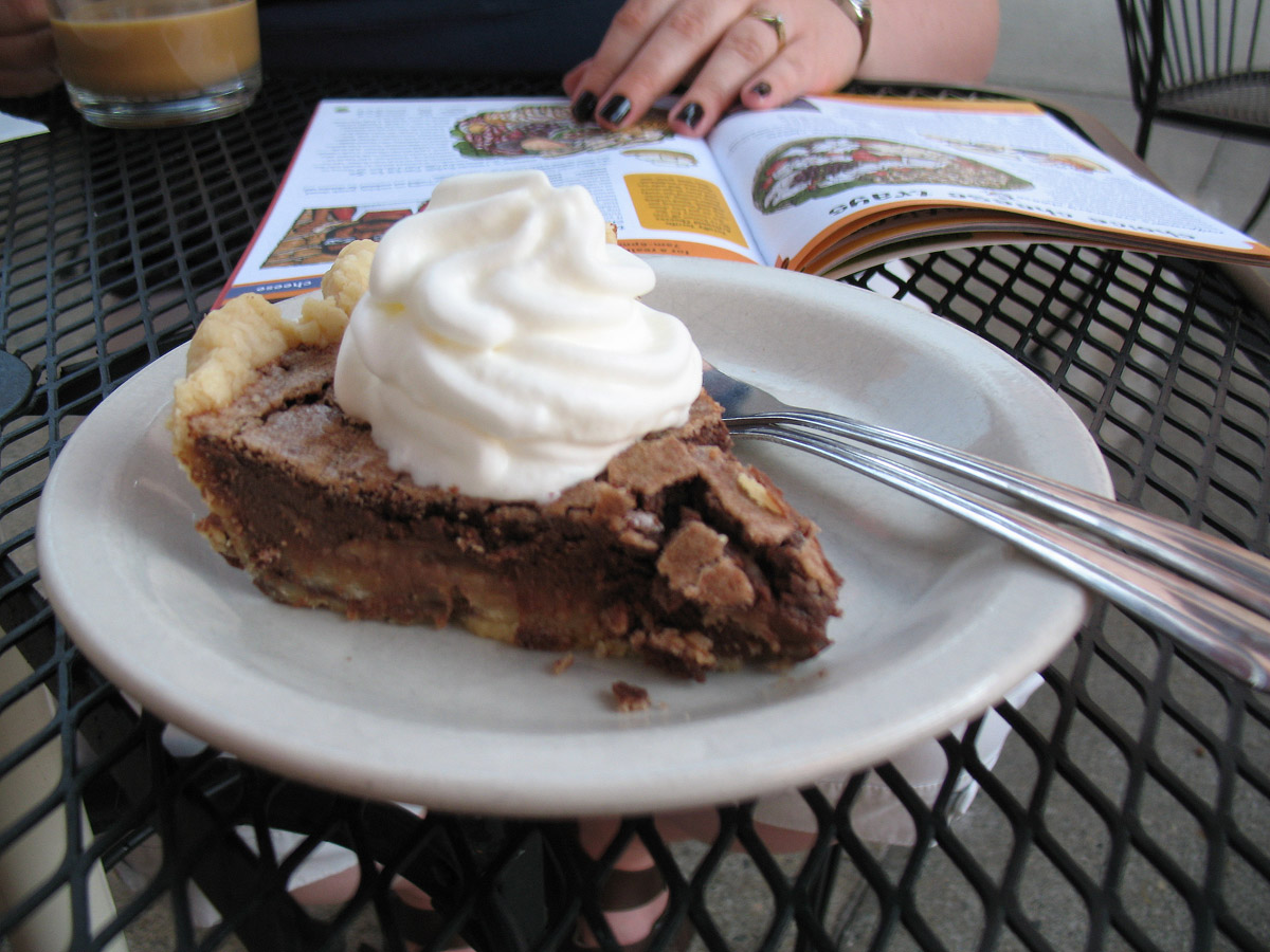 File:Chocolate chess pie while reading a magazine.jpg - Wikimedia ...