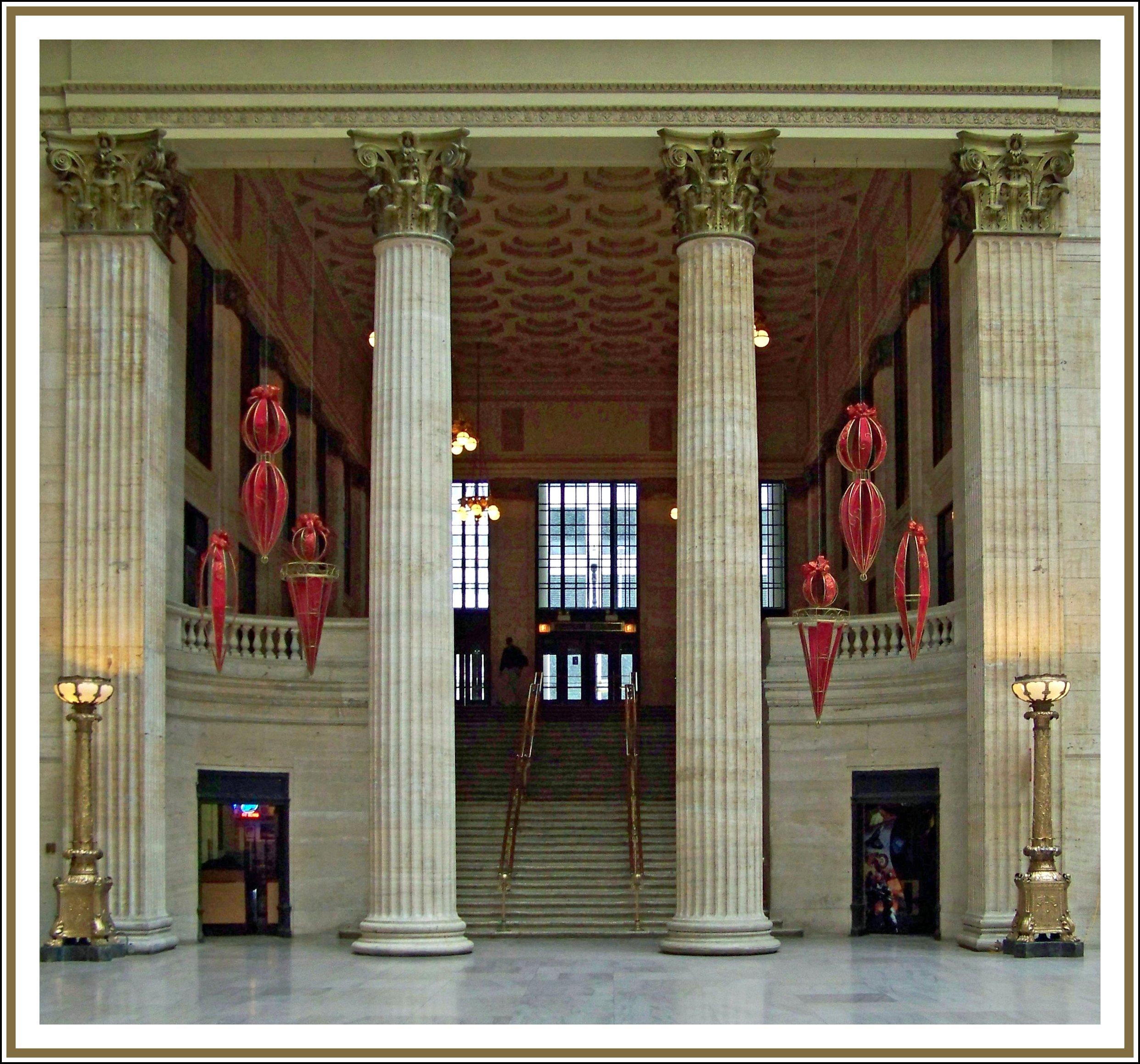 filechristmas chicago union station panoramiojpg - Chicago Christmas Station