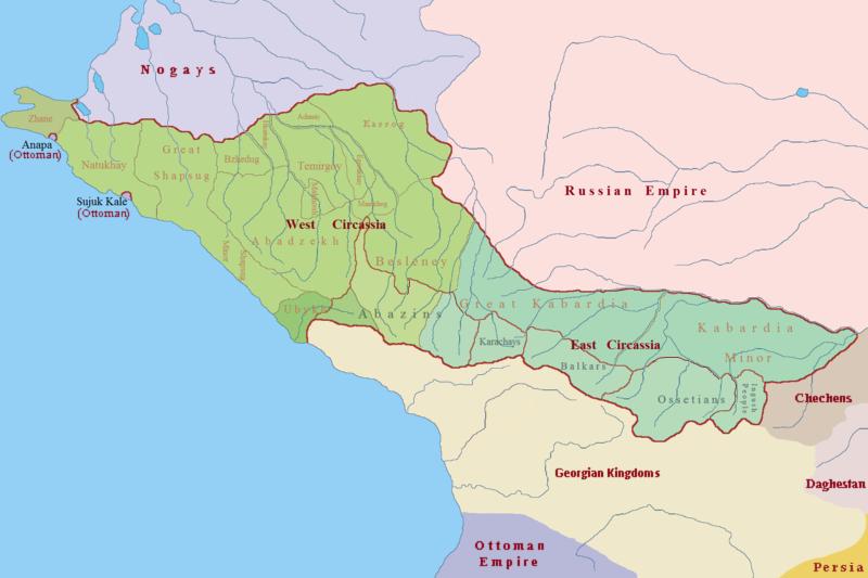 Circassia in 1750