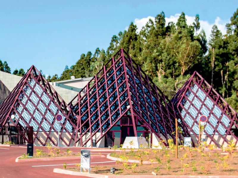 Vue de l'entrée de la Cité du Volcan en 2014.