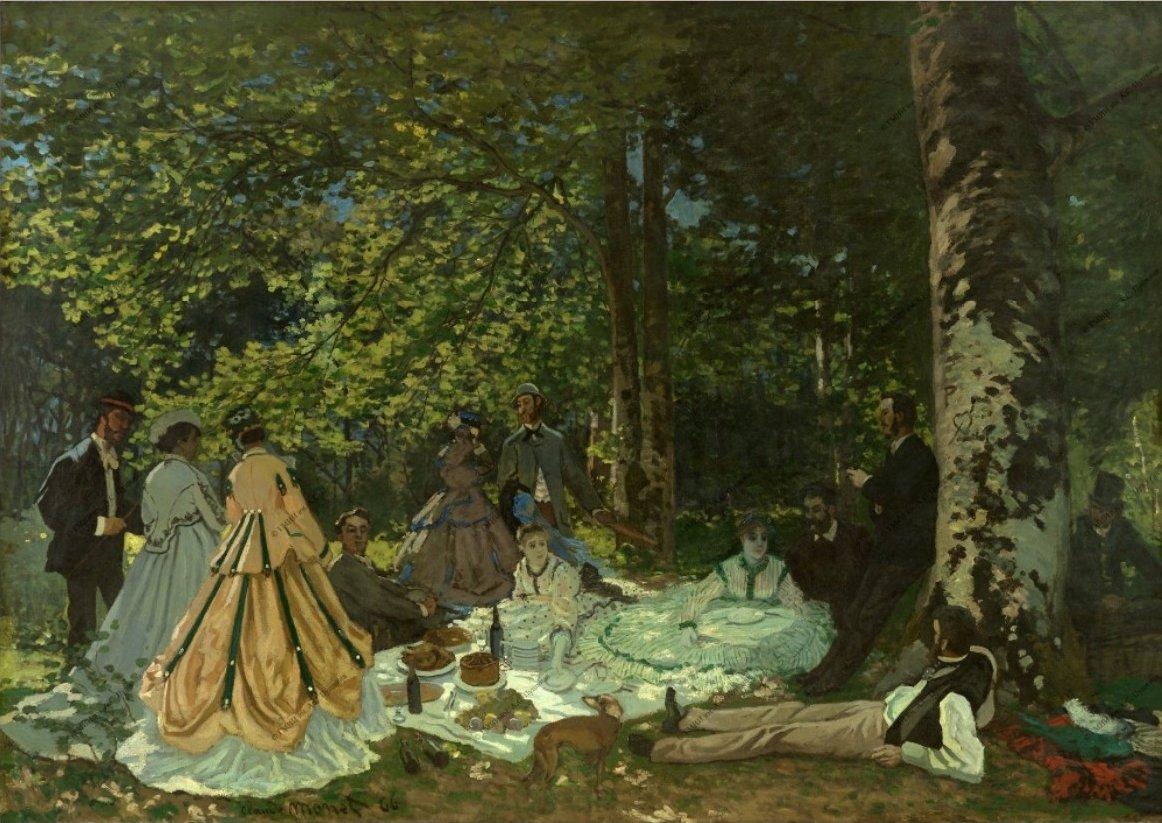 Claude Monet - Le dejeuner sur l'herbe.JPG