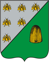 The coat of arms of Nakhichevan-on-Don, adopted in 1811, depicts bees and a beehive—symbolizing hardworking Armenians[1]