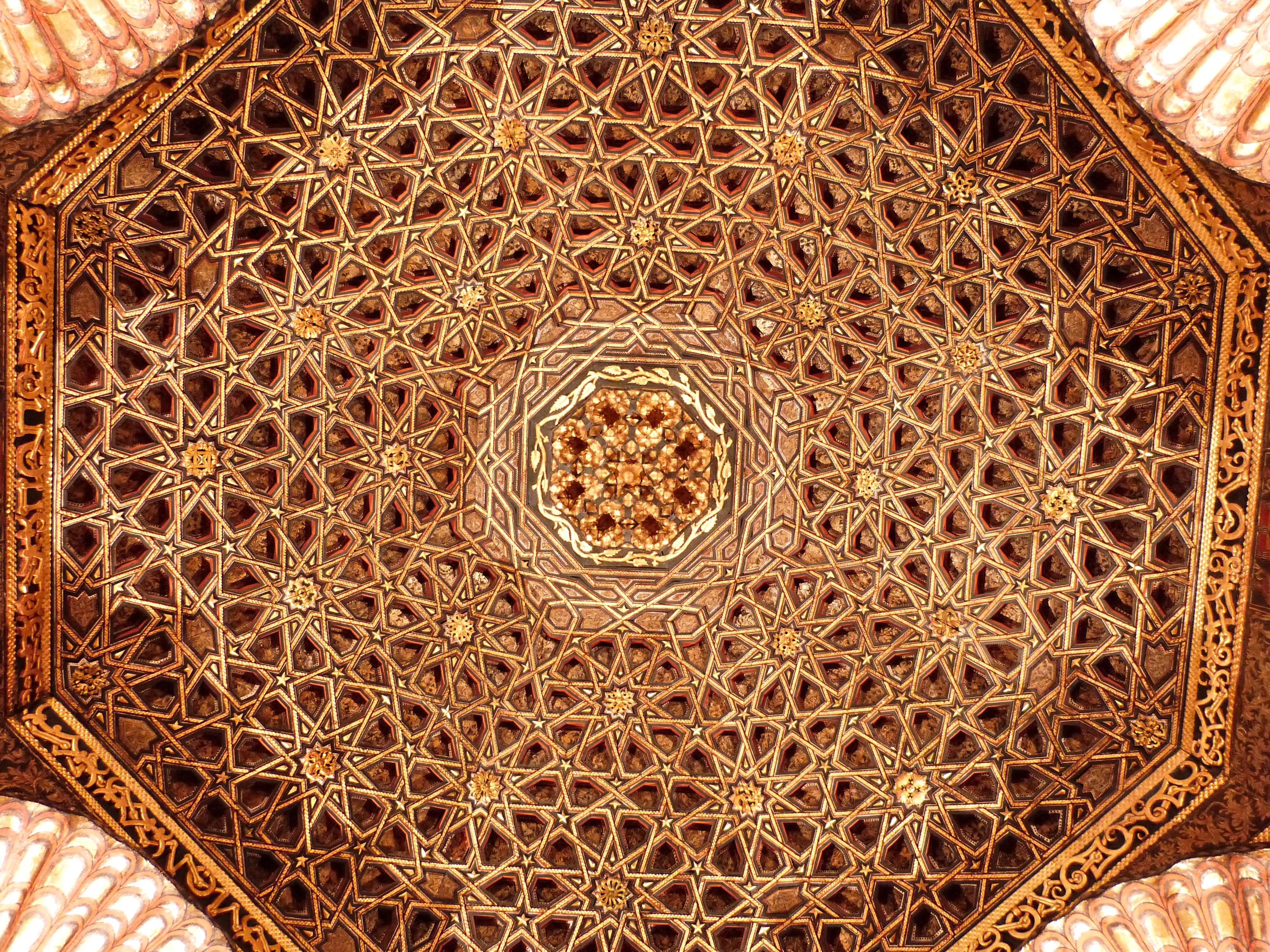 file d tail du plafond du salon oriental du ch teau de