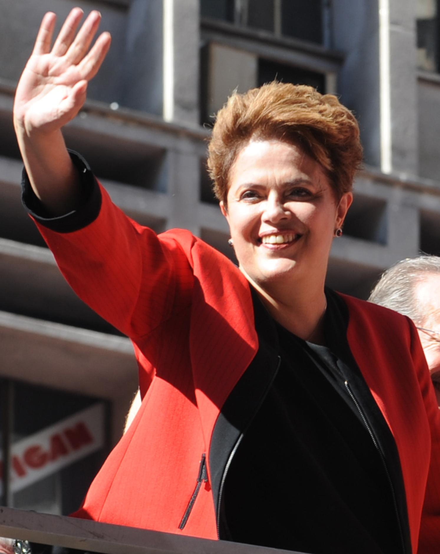 Dilma Rousseff on the campaign trail