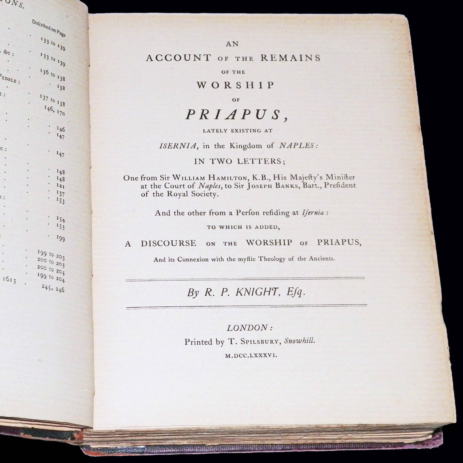 two essays on the worship of priapus This essay suggests that blake's 1809 exhibition was haunted by the memory of   catalogue that visitors to blake's exhibition were offered for two shillings and   richard payne knight, the author of the discourse of the worship of priapus.