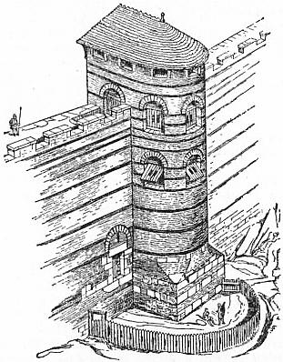 EB1911 Fortification - Fig. 3.—One of the Towers at Carcassonne, outside view.jpg
