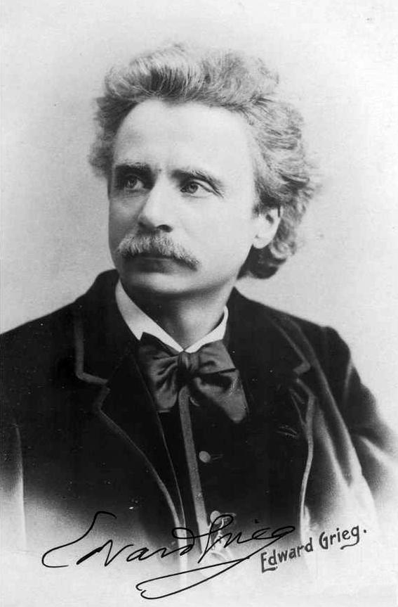 Edvard Grieg en 1888, por Elliott & Fry