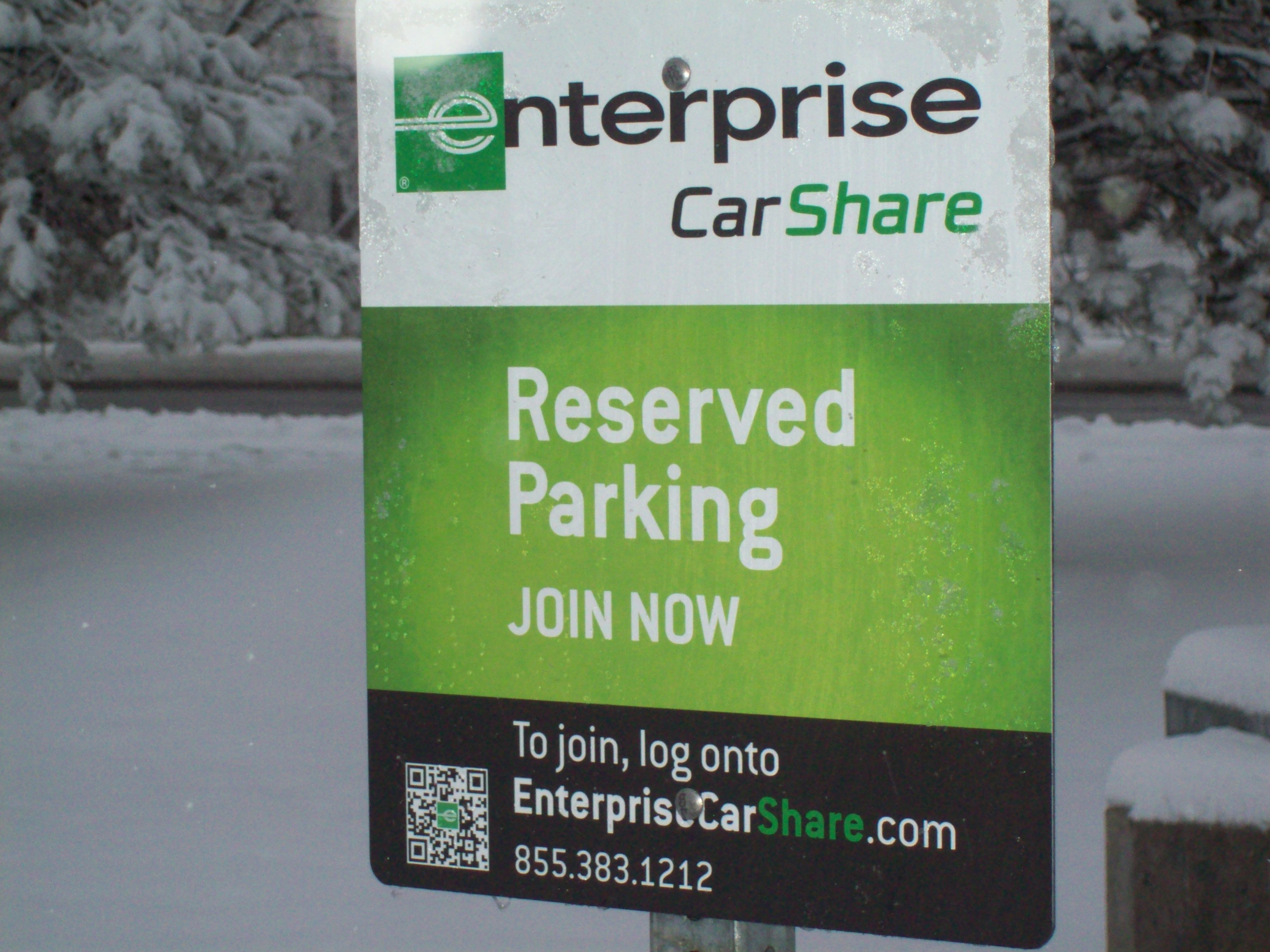 Enterprise Car Share Number >> File Enterprise Carshare Sign Jpg Wikimedia Commons