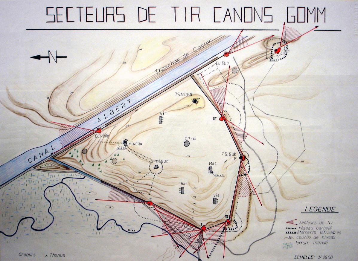 Σχεδιάγραμμα του οχυρού Eben Emael