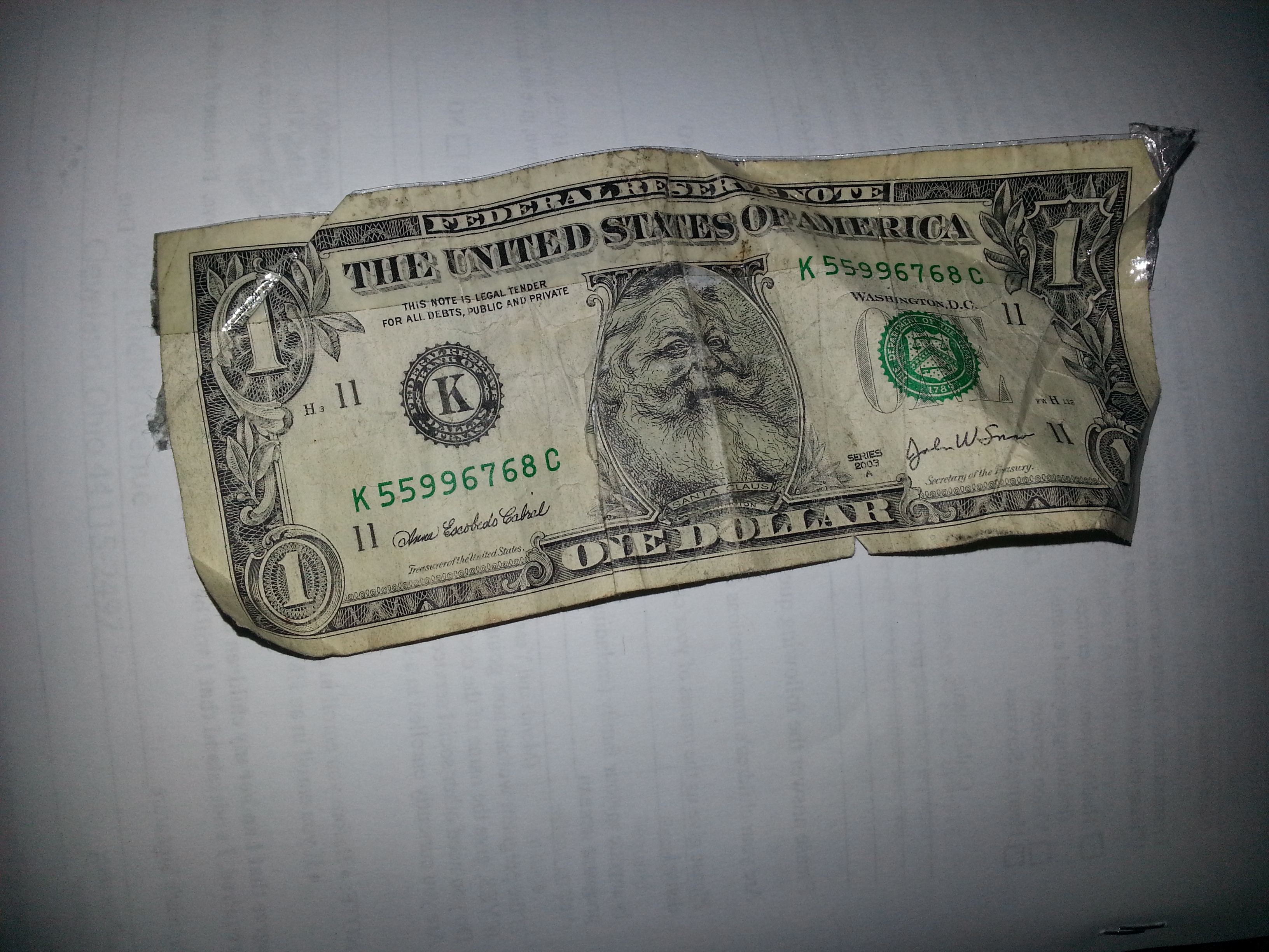 File Fake One Dollar With