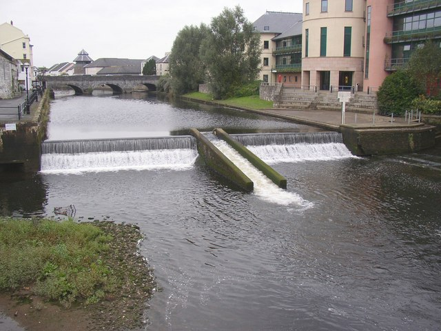 Fish Pass on the Western Cleddau, Haverfordwest - geograph.org.uk - 616470
