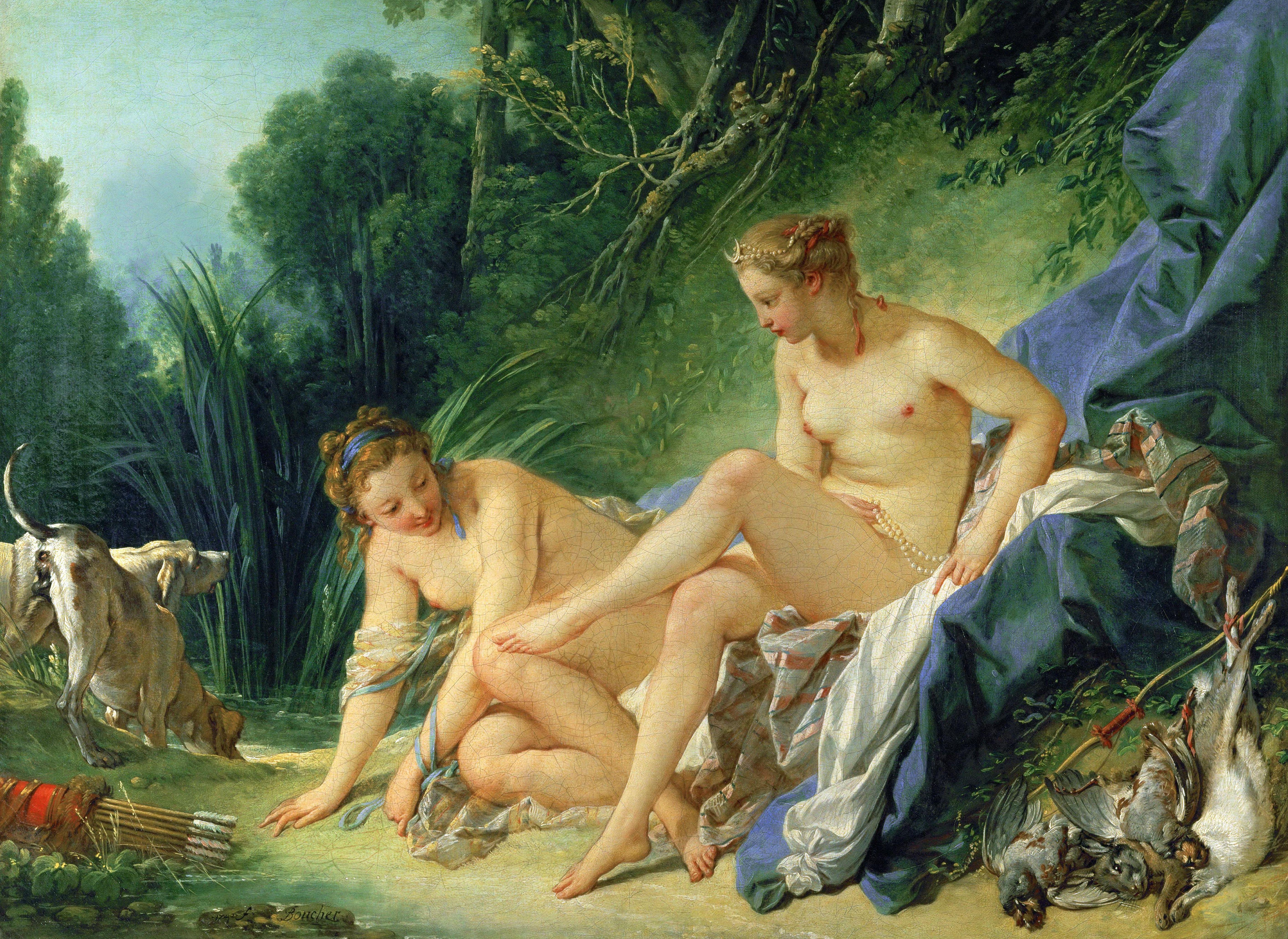 Boucher El Bano De Diana.Archivo Francois Boucher Diana Resting After Her Bath