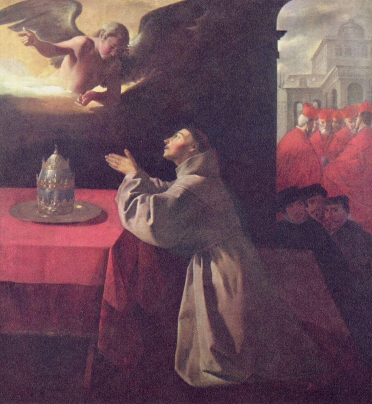 an interpretation of the annunciation by francisco de zurbaran Monastery of nuestra señora de la defensión at jerez de la frontera, the annunciation, 1638 by francisco de zurbaran baroque religious painting musée de grenoble, grenoble, france.