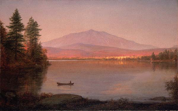 Oil on Canvas painting of Katahdin by Frederic Edwin Church