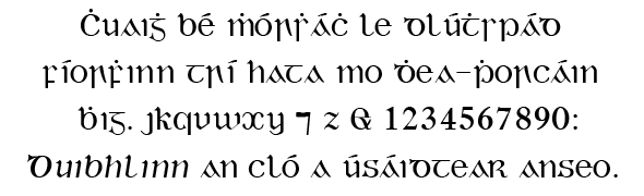 Gaelic type - Wikipedia