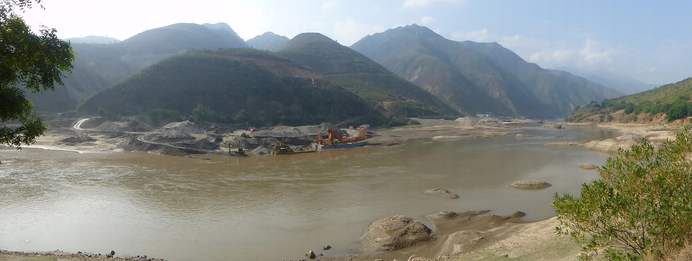 Description: The Red River near the Yunnan city of Gejiu (image credit Wikipedia)