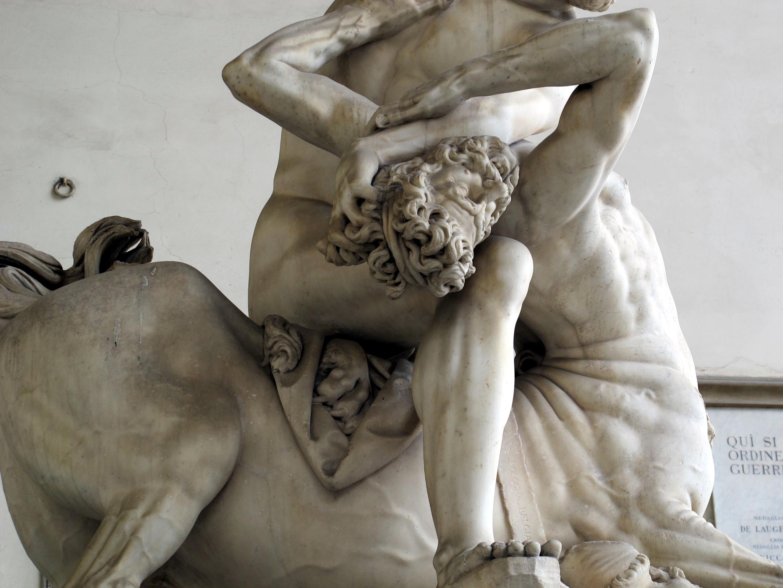 Giambologna, Ercole e il centauro Nesso, (particolare), 1599, Loggia dei Lanzi, Piazza della Signoria, Firenze