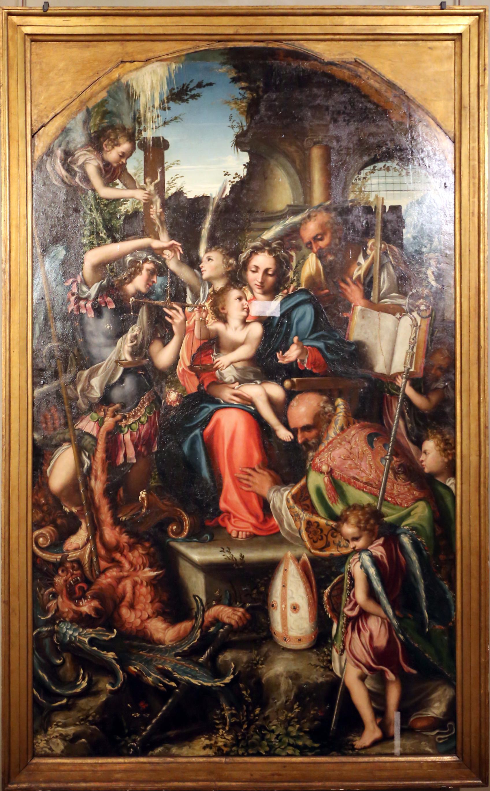 File:Giorgio gandini del grano, sacra famiglia con santi e angeli, 1534-