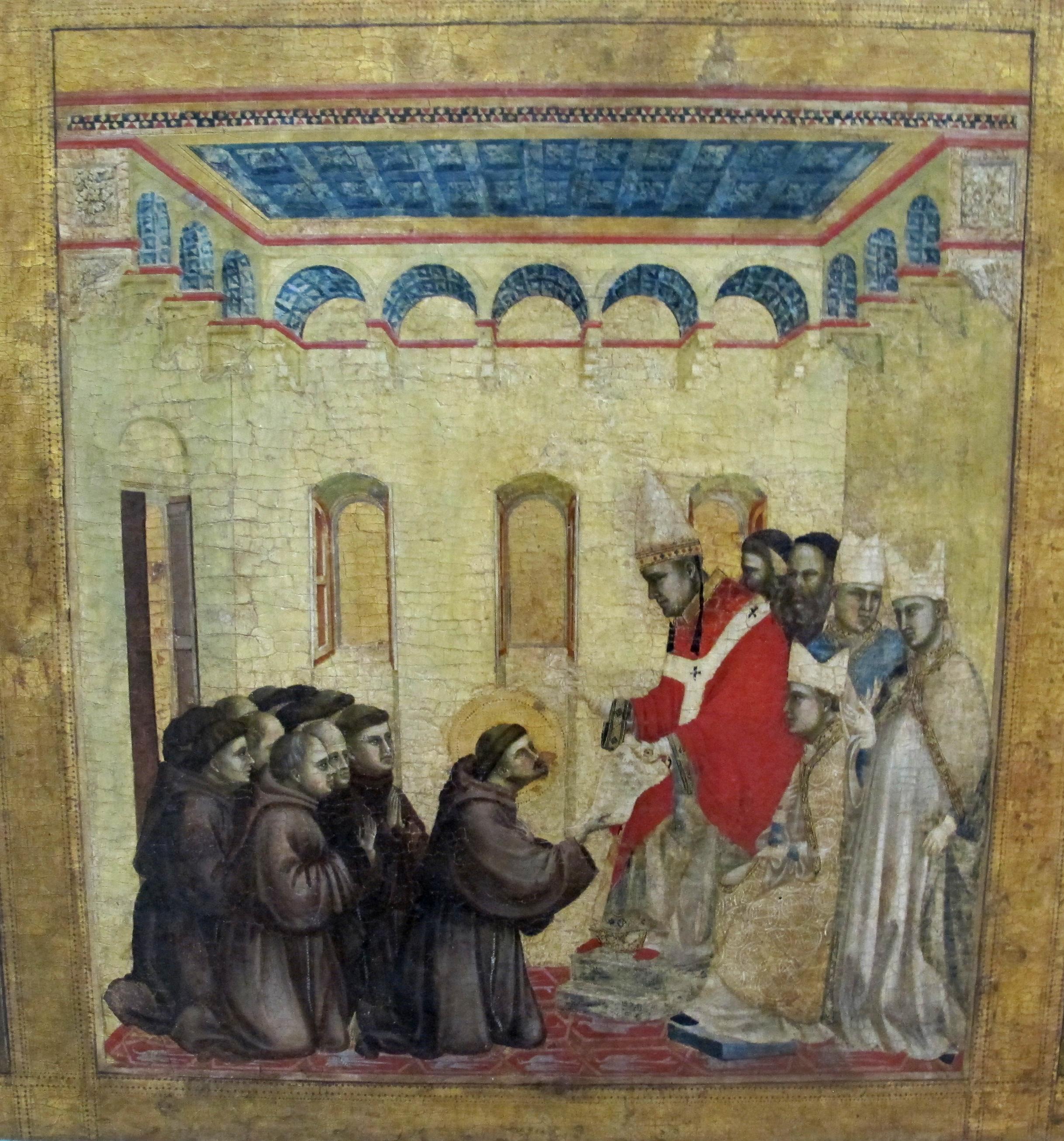 File:Giotto di bondone, stimmate di s. francesco con stemma cinquini, 1297