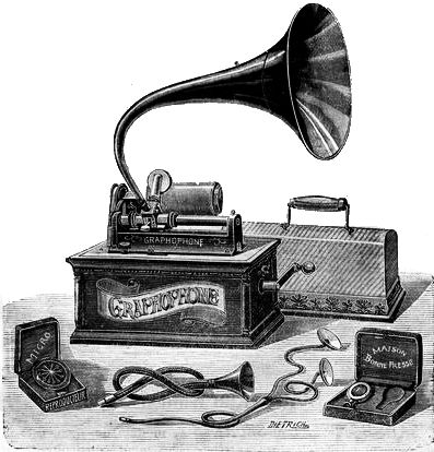 A later-model Columbia Graphophone of 1901 Graphophone1901.jpg