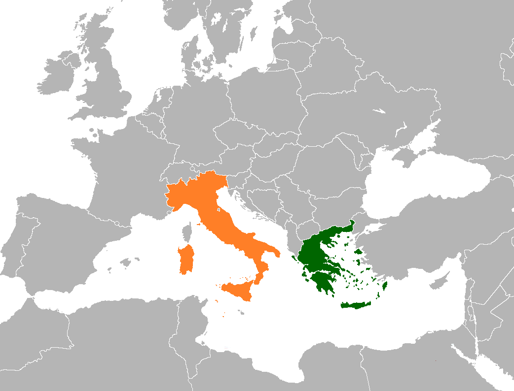 Map Of Italy Greece.Greece Italy Relations Wikipedia