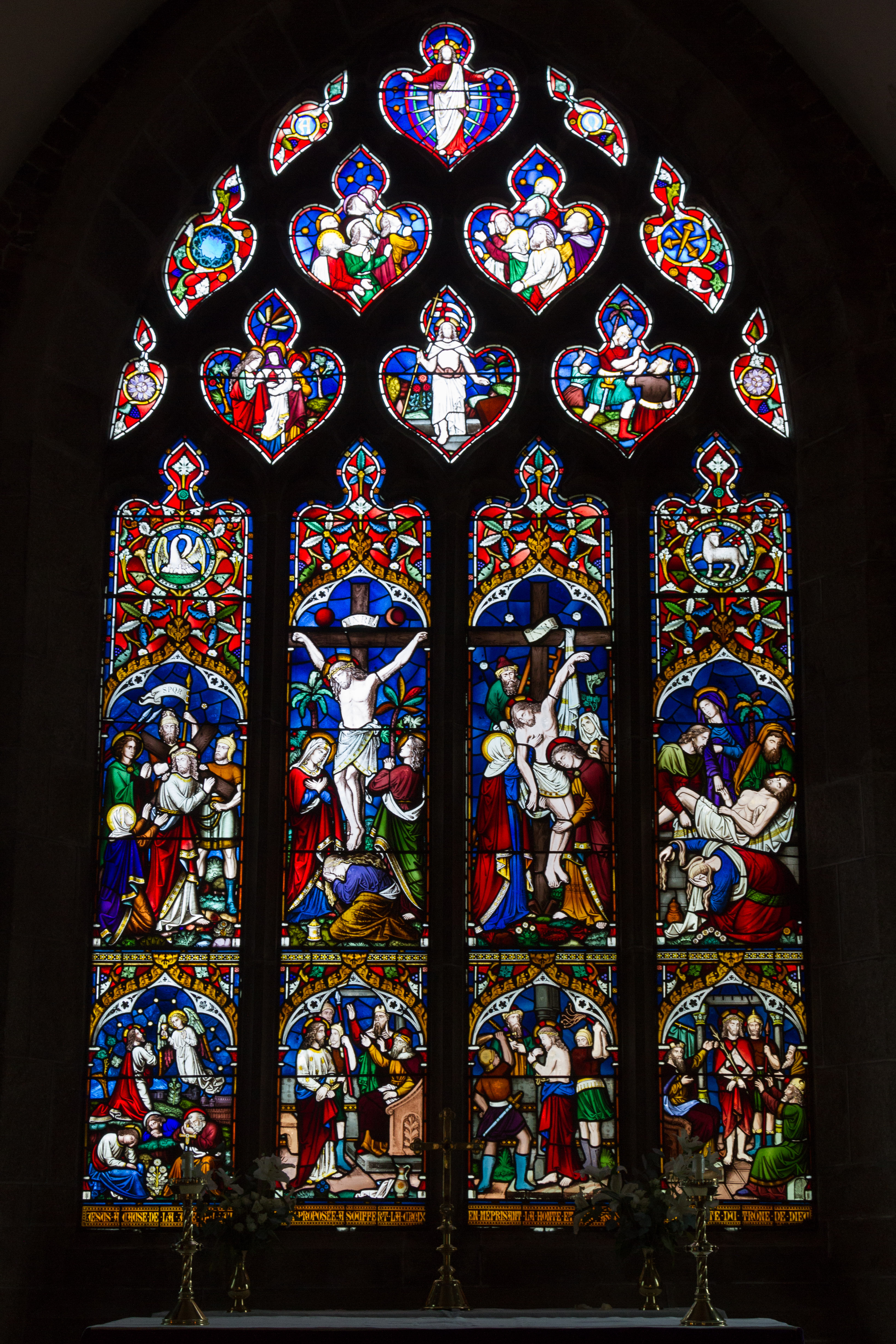 Church Stained Glass Window Template
