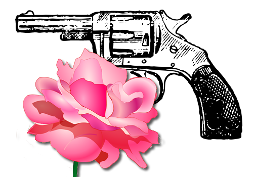 File Gun And Rose Png Wikimedia Commons