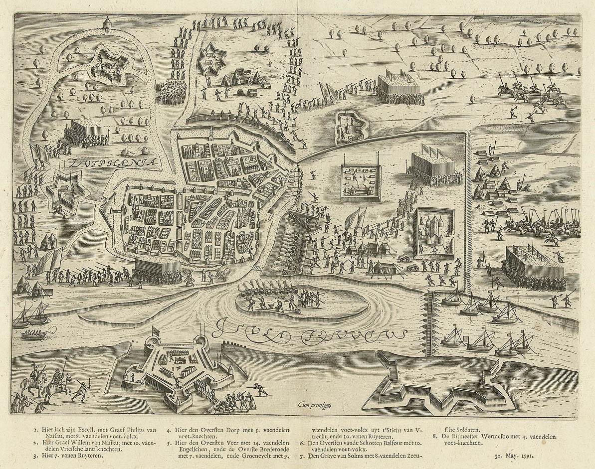 File:Het beleg van Zutphen (1591) door Prins Maurits - The siege of