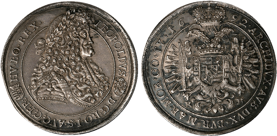 Hungarian Thaler of Leopold I minted in 1692
