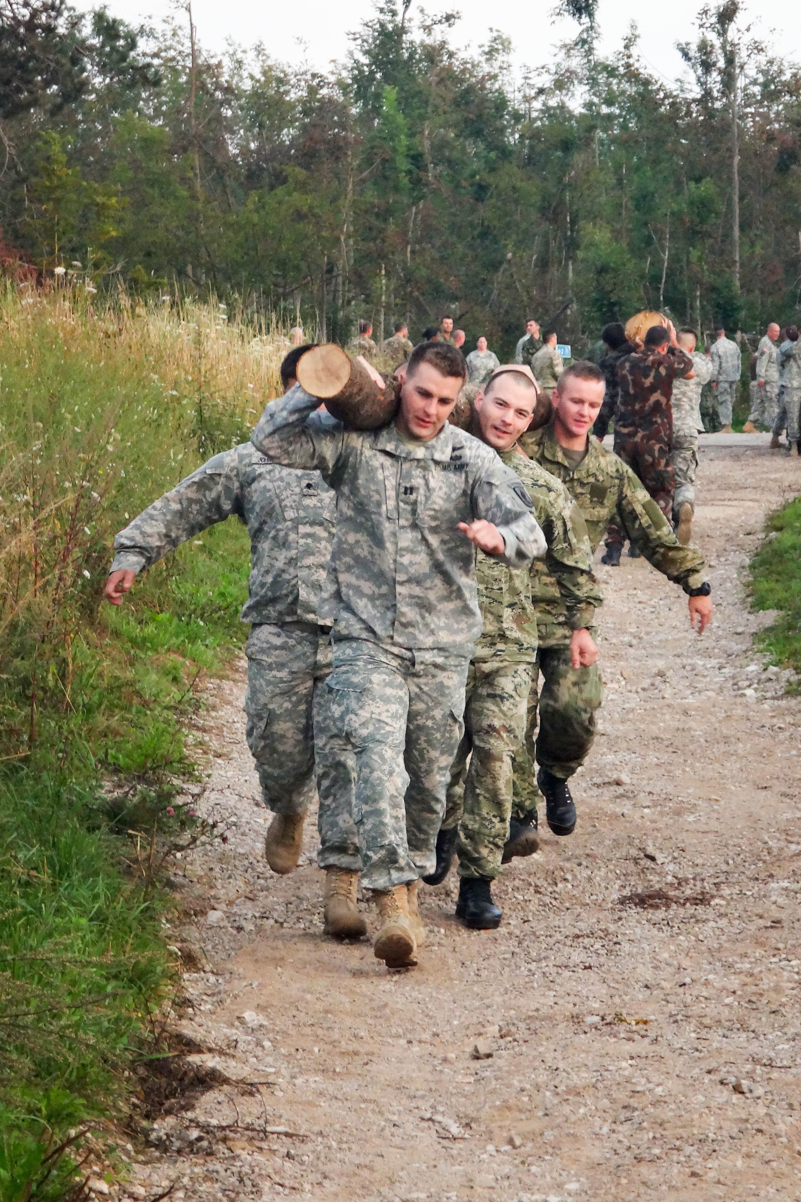 Military Physical Team Building Exercises