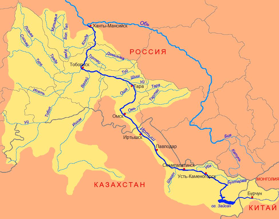 лоцманские карты реки иртыш