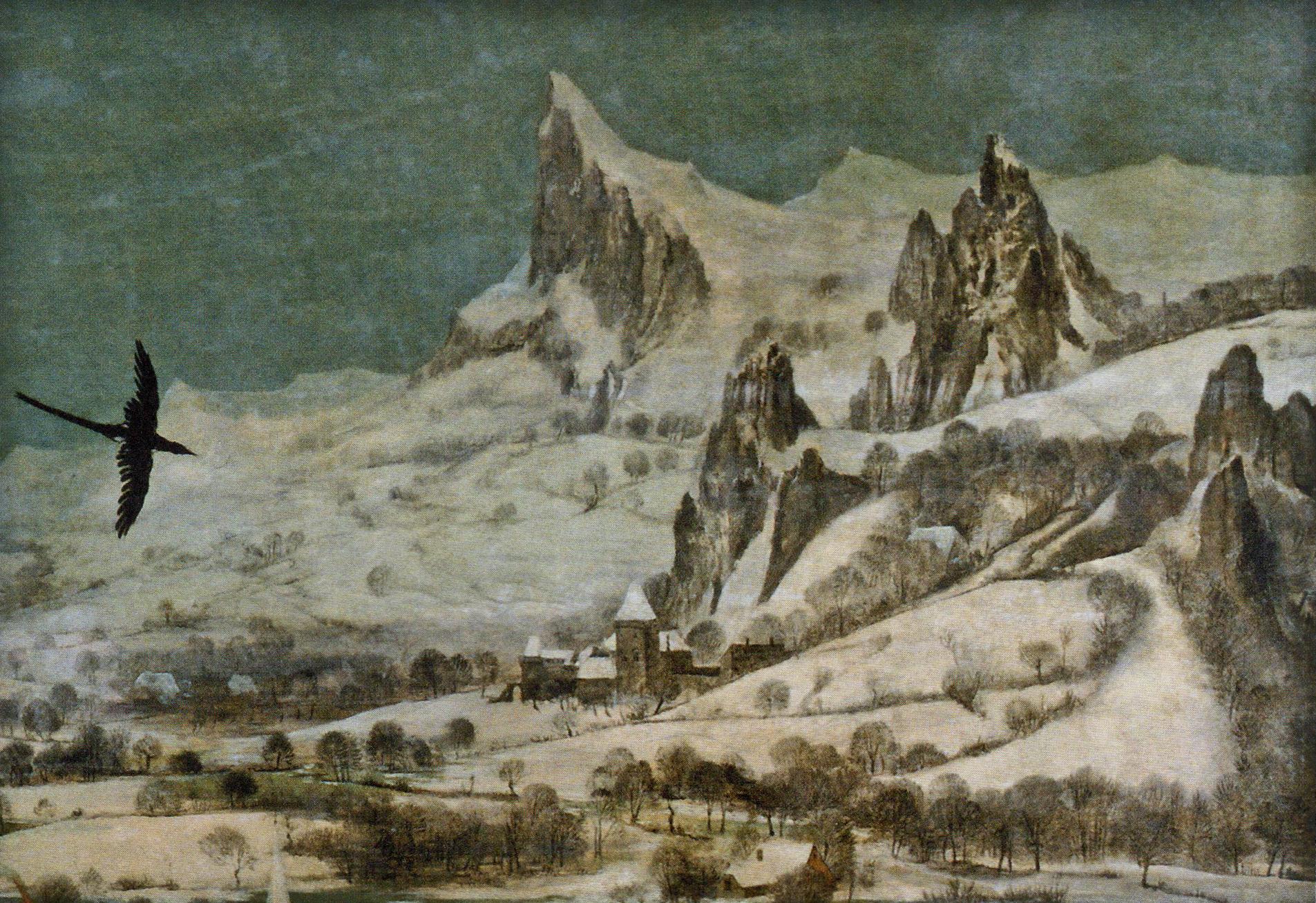 Jäger im Schnee - Gebirge und Burg.jpg