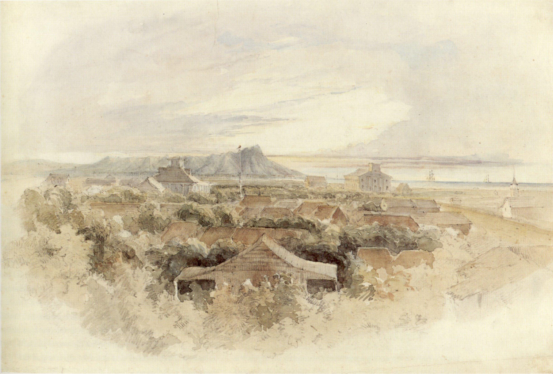 History of watercolor art - File John Prendergast English Honolulu Looking Toward Diamond Head