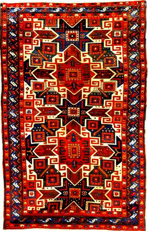 File Kazak Rug From Azerbaijan Wikimedia Commons