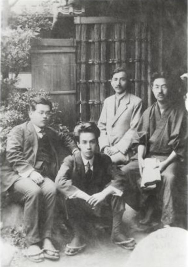 Ryonosuke con Kan Kikuche, quién instauró el premio en su nombre tras su muerte.