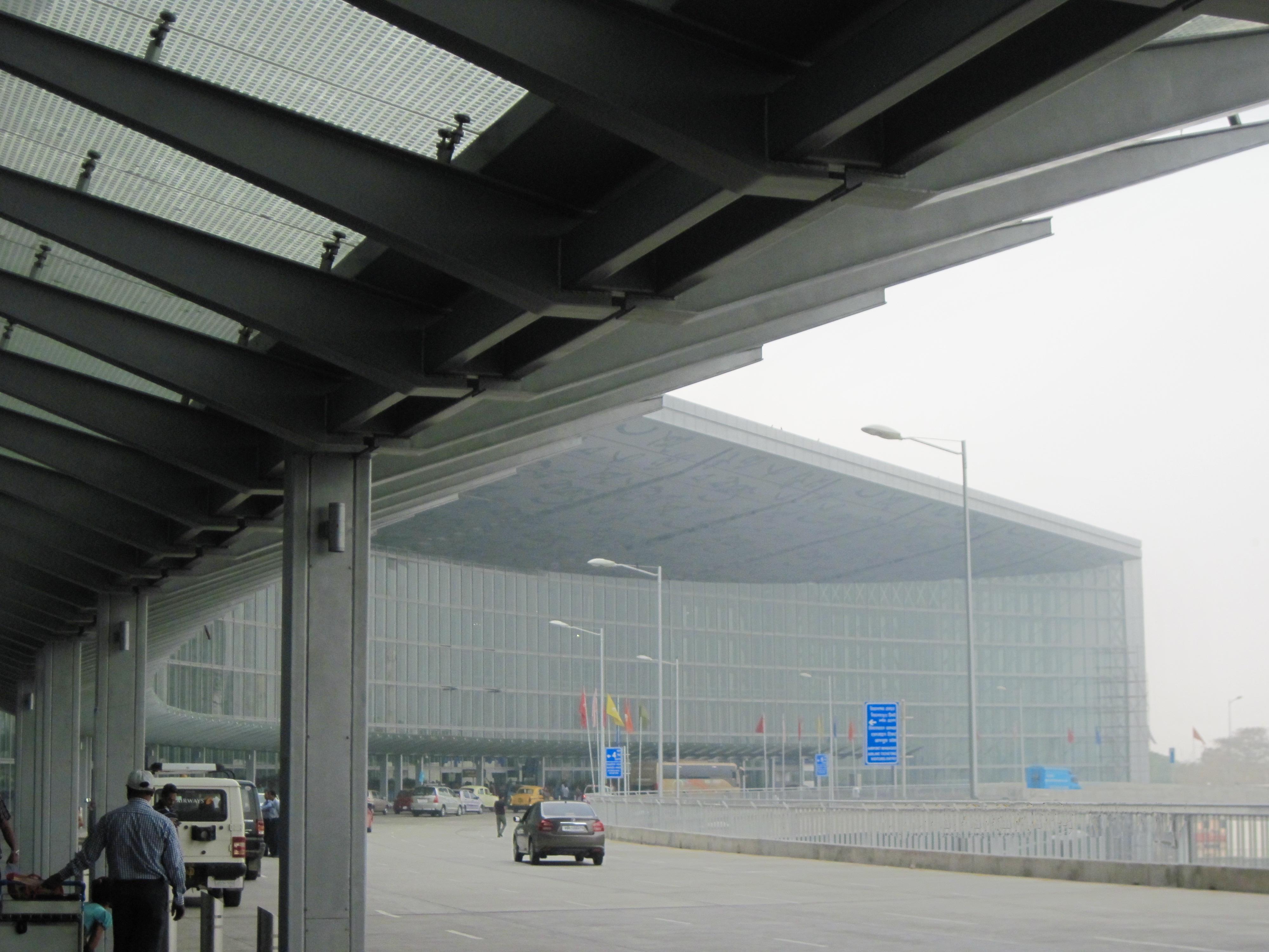 Cityside view of the new Integrated Terminal of Netaji Subhash Chandra Bose International Airport