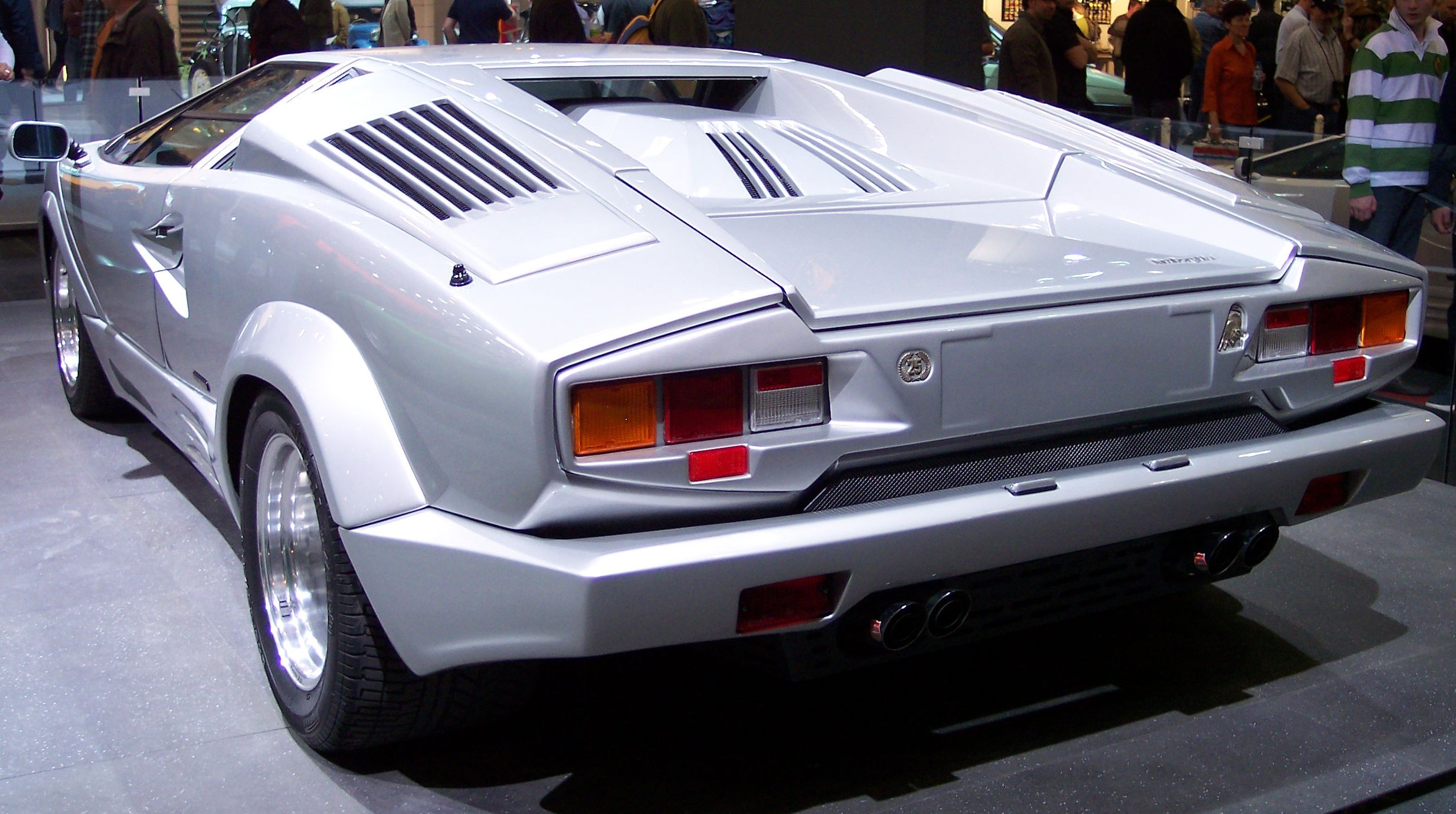 File Lamborghini Countach Silver 25 Years Edition Hl Tce