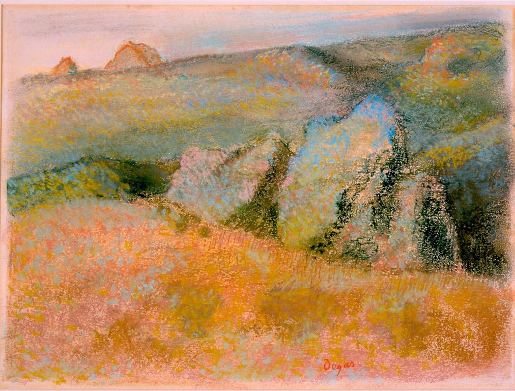 Oil Pastels Painting California Desert