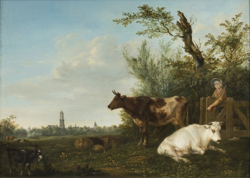 Landscape with Cows and Dom Tower