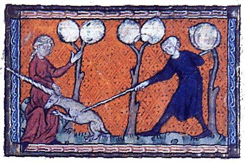 Licorne sur un bestiaire d'amour rimé de la fin du XIIIème siècle
