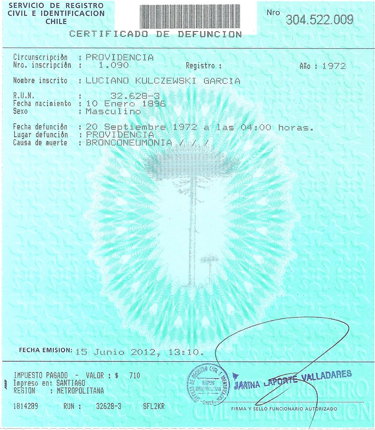Archivo:Luciano Kulczewski, certificado defunción.jpg - Wikipedia ...