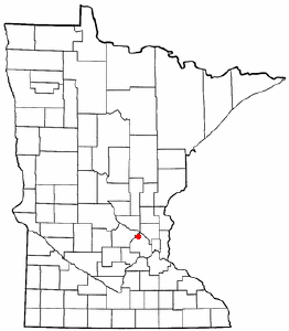 Location of Rogers, Minnesota