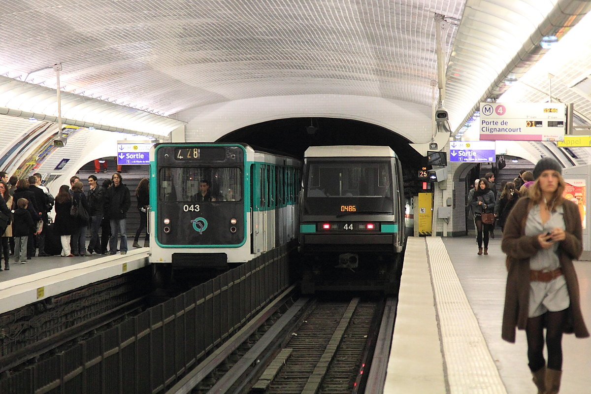 L nea 4 del metro de par s wikipedia la enciclopedia libre - Metro porte de clignancourt ...