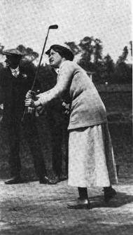 Mabel Harrison in action, from a 1918 publication.