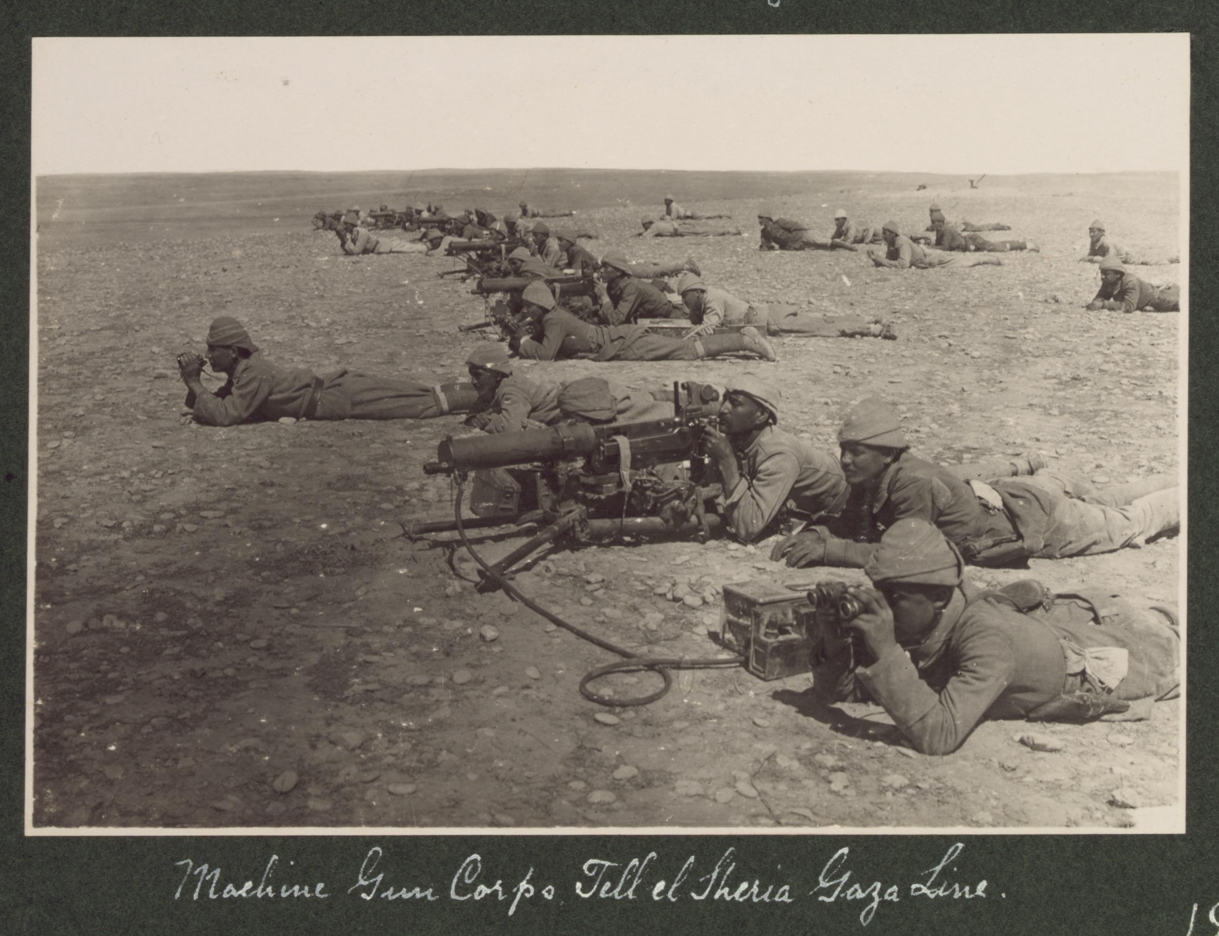 File:Machine gun corps Gaza line WWI jpg - Wikimedia Commons