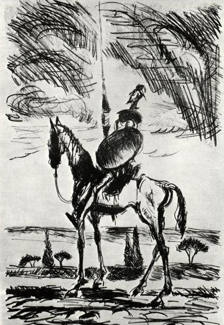 Litografia Don Quijote od Cypriána Majerníka